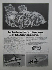 5/1971 PUB UNITED AIRCRAFT CANADA PT6 TWIN PAC BELL 212 SIKORSKY S-58T FRENCH AD