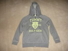 NWT Tommy Hilfiger Girl's Zip Up Hoodie Sweatshirt Long Sleeve - Gray - Small