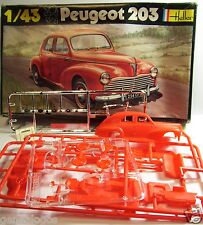 HELLER PEUGEOT 203 MAQUETTE PLASTIQUE KIT COMPLET A MONTER REF 160 1/43 IN BOX
