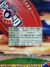 1991 AFL GRAND FINAL Football Record / Ticket +Poster HAWTHORN HAWKS Premiers