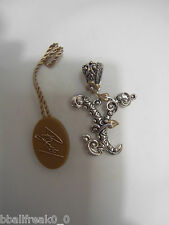 "Barbara Bixby Initial Enhancer ""Y"" Sterling/18K Gold New"