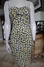 Diane von Furstenberg Ninel Small Clover dress DVF strapless 100% silk Sheath 4