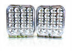 """(2) Trailer Truck White LED Surface Mount 5"""" Square Stop Turn Tail Light Sealed"""