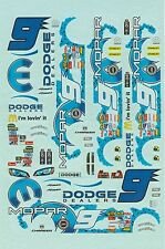 Decal 1:32 Dodge  Kasey Kahn NASCAR n. 9 waterslide Decal