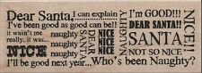"""Santa Words"" Rubber Stamp by Stampendous"