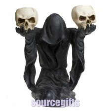 NEW GRIM REAPER OCCULT BOW TO DARKNESS CANDLE HOLDER  STATUE FREE POST U0502