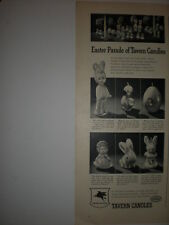 1947 EASTER PARADE of TAVERN CANDLES BUNNY RABBIT EGG CHICKS SOCONY Vtg print Ad