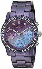 GUESS U0774L4 Purple Swarovski Crystal Gradient Women's Watch NEW