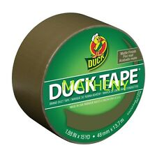 Olive Color ~ Duck Brand Duct Tape ~ Camo Matte Finish Solid Series ~ 15yds