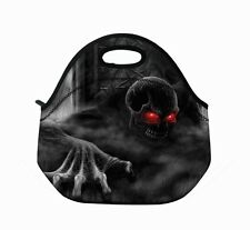 Black Skull Insulated Lunch Tote Bag Neoprene lunch baby bag Handbag Case