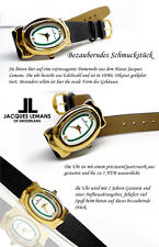 DAMEN LUXUS JACQUES LEMANS UHR 18 kARAT VERGOLDET SWISS MADE OVAL  FORM JL-670