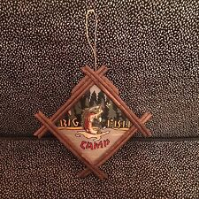 "Handmade & Painted Big Fish Camp - Cabin Wall Decoration - 6 1/4"" x 6 1/4"""