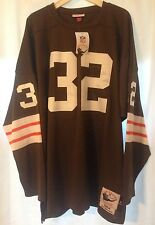NWT Jim Brown Cleveland Browns Mitchell & Ness M&N 1OO% Authentic Jersey 4XL