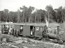 PHOTOGRAPHY BLACK WHITE LOGGING TRAIN HARBOR SPRINTS MICHIGAN POSTER LV3628