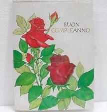 BIGLIETTO DI BUON COMPLEANNO-MISURA cm. 14,5x19,5-BATTERIA ESAURITA