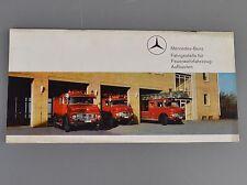 ✇ MB Mercedes Benz Prospekt Fahrgestelle Feuerwehrfahrzeuge Aufbauten von 1972