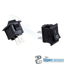 2x MINI interruptor NEGRO panel empotrable on / off boton 2 posiciones 220v 3A