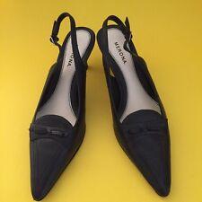 Women's Merona Abby Shoes Black Size 6.0 Leather Upper Balance Man Made