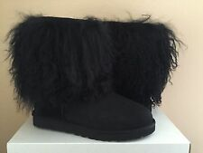 UGG CLASSIC SHORT SHEEPSKIN CUFF BLACK BOOT US 8 / EU 39 / UK 6.5 LIMITED RARE