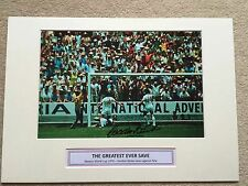 Gordon Banks Hand Signed Photo Mounted Display A3 With COA England Legend