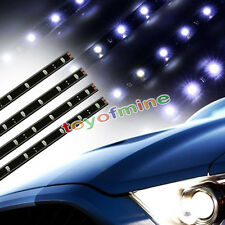 4 x 30cm 15 SMD LED Car Auto Flexible Grill Light Lamp Strip Waterproof Withe