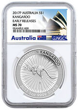 2017-P Australia $1 1 oz. Silver Kangaroo NGC MS70 ER (Exclusive Label) SKU43597