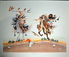 """RANCE HOOD """"UNTAMED HEARTS"""" Hand signed lithograph 1980 xxxx/1500  varies"""