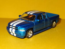 2000 DODGE RAM SRT-10 SUPER CAB BLUE 1/64 SCALE LIMITED EDITION REAL RUBBER