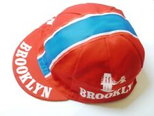 BROOKLYN RETRO CYCLING BIKE CAP - Vintage - Fixed Gear - Made in Italy (Red)