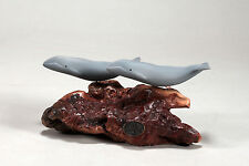 GRAY WHALE Duo Sculpture New direct from JOHN PERRY 5in tall Statue