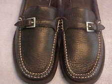 WOMEN'S SHOES  7 Black Pebble Leather Mule/Clog W Top Stitch Buckle DOCKERS LW