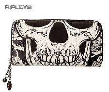 BANNED Clothing Black Wallet Purse SKULL FACE Skeleton Punk Goth Gift