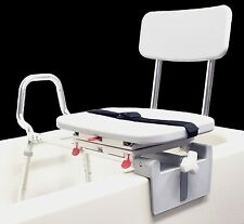 Eagle Health 77762 Snap-n-Save Sliding Tub-Mount Transfer Bench with Swivel Seat