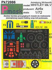 Whitley Mk. V PITTURA Maschera Per Kit Airfix #72086 1/72 pmask