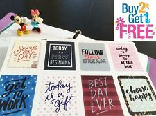 PP108 -- 8 Inspiration Quote Life Planner Stickers for Erin Condren
