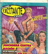 LA VIDA EXCITANTE Y BRUTAL mexican comic humor SEXY GIRLS #14