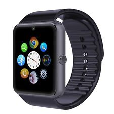 Gt08 BLUETOOTH SMART WATCH CON SCHEDA SIM NFC PUSH messaggio per iOS ANDORID UK Blk