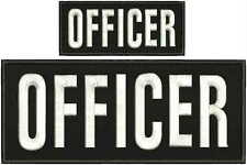 OFFICER embroidery patches 4x10 And 2x5 hook  white letters