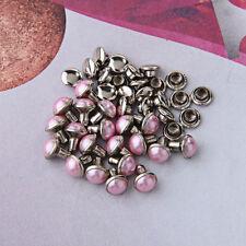 20 Pink Pearl Rapid Rivets Studs DIY for Bag Shoes Bracelet