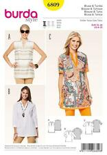 BURDA YOUNG SEWING PATTERN LADIES TUNIC TOP  SIZE 10 - 20 6809