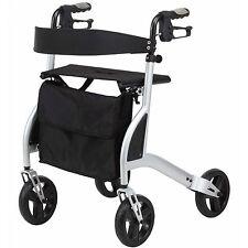 Ultra léger 4 à roues déambulateur marche cadre avec siège seulement 5kg