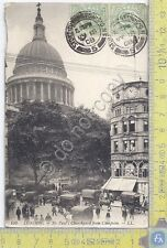 Cartolina VG - London - St. Paul's Churchyard - Congo - 1908