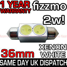 2w HIGHPOWER SMD LED 239 272 36mm WHITE NUMBER PLATE INTERIOR LIGHT FESTOON BULB
