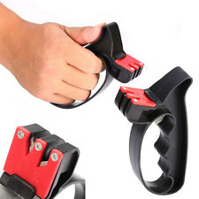 Pro 2 in 1 Handheld Scissors Knife Cutter Sharpener Tools with Hand Guard