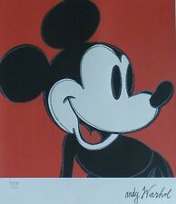 ANDY WARHOL MICKEY MOUSE MICKY SIGNED HAND NUMBERED 4978/5000 LITHOGRAPH