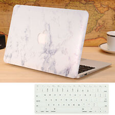 White Marble Hard Case Cover + Keyboard Skin For Macbook Air 13''