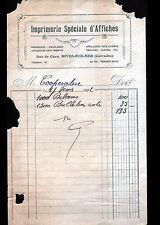 DIVES-sur-MER (14) IMPRIMERIE SPECIALE D'AFFICHES en 1932