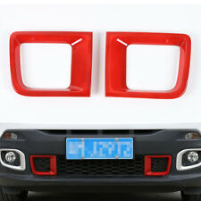 2pcs Red Front Bumper Air Vent Duct Intakes Trim ABS For Renegade 1.4T 2015-2017