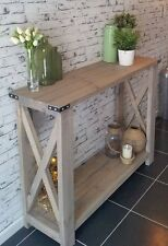 HANDMADE Hall Table Rustic Hamptons Style Console Sideboard by Savoy Truffle