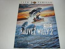 AFFICHE PROMO VIDEO CLUB--SAUVEZ WILLY 2--LITTLE/RIGHTER